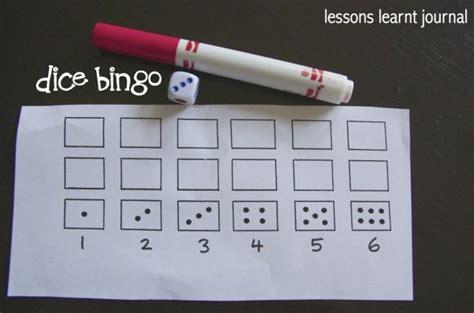 dice bingo printable dice bingo subitising