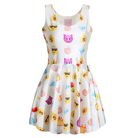 design emoji clothes 2015 fashion cute emoji girls dress women sleeveless