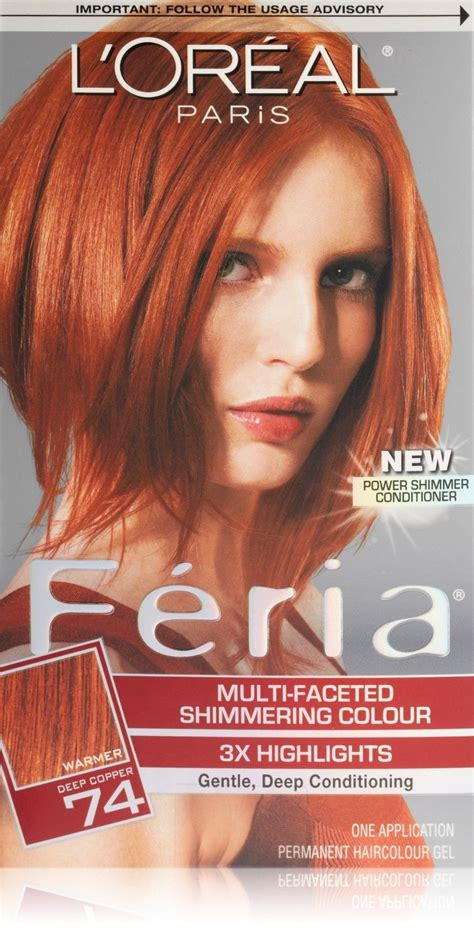 feria hair colors feria hair color feria copper shimmer from l oreal
