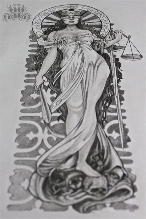 ink addiction tattoos justice pencil drawings justice