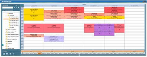 Calendrier Universitaire Nanterre Modele Emploi Du Temps Etudiant Document