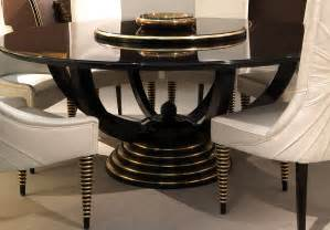 tl furniture circular table black lacquer gold leaf