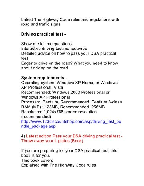 pattern of driving theory test latest dsa driving theory test and hazard perception test book
