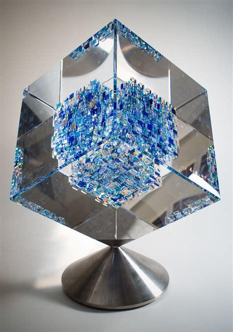 glass sculpture  john kuhn art  la carte auction item