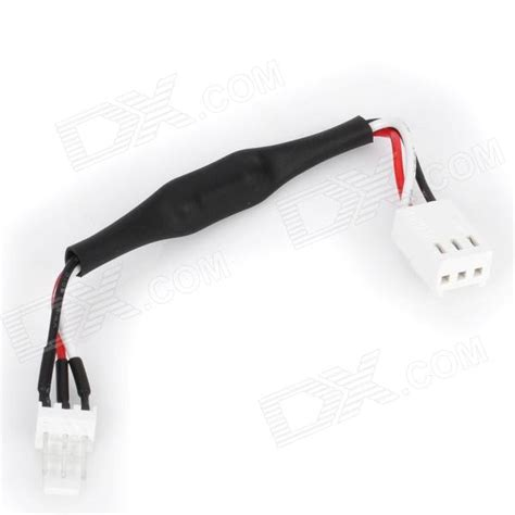 pc fan adapter cable 3 pin computer fan power adapter cable dealextreme