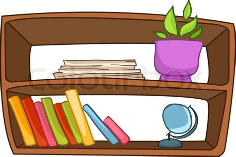 Shelf Clipart by Home Furniture Book Shelf Isolated On White