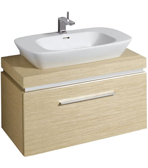 twyford vello 800mm countertop basin with 1000mm shelf and