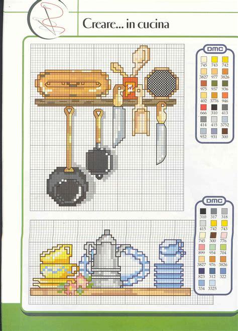Schemi Punto Croce Per Cucina - schema punto croce utensili cucina 01