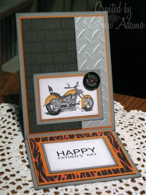 Harley Davidson Birthday Cards Harley Davidson Cards And Easel Cards On Pinterest