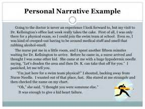 Exles Of Personal Narratives Essays by Narrative Report Writing