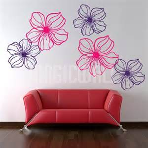Wall Stickers Flowers Wall Decals Graceful Flowers Wall Stickers Canada