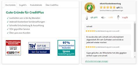 kondition kredit test creditplus kredit konditionen testbericht und