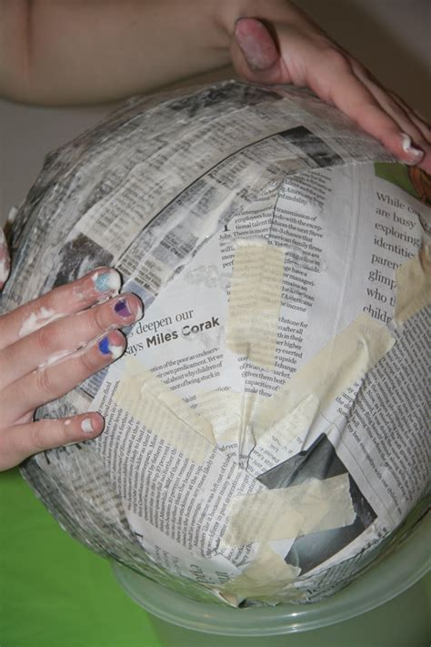 How To Make Paper Mache Smooth - working with papier m 226 ch 233 pi 241 ata boy