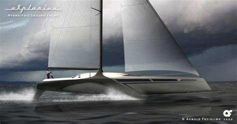 hydrofoil yacht design hydrofoil sailing yacht designs explorius has v shaped