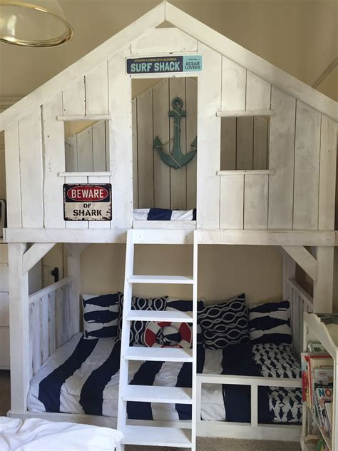 ana white surf shack bunk bed using club house bed