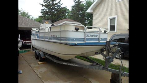 mfg tri hull fiberglass boat 1993 sunbird odyssey 21 tri hull pontoon youtube