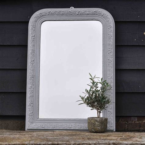 antique hand painted ls antique french ornate mirror hand painted in grey home