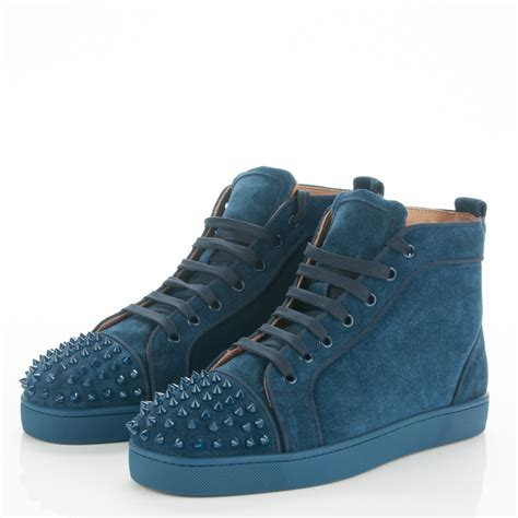 louboutin mens sneakers christian louboutin suede louis spikes flat mens sneakers