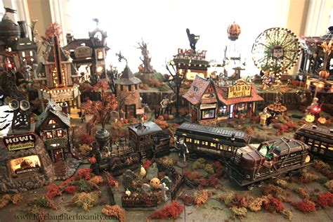 halloween village department 56 display love laughter