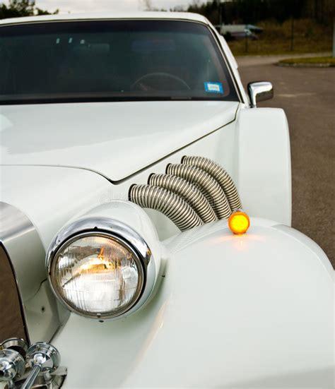 Auto Polieren Excalibur scheinwerfer auf excalibur limousine stockfoto bild von