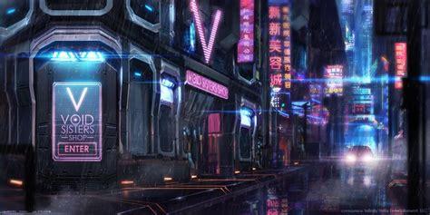 cyberpunk city concept environment sci fi concept art futuristic china town cyberpunk future city rainy city