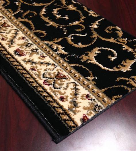 black patterned runner black pattern carpet stair runner traditional como 1599