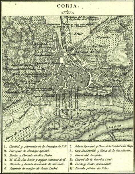 mapa coria archivo mapa de coria 1840 1870 por francisco coello jpg
