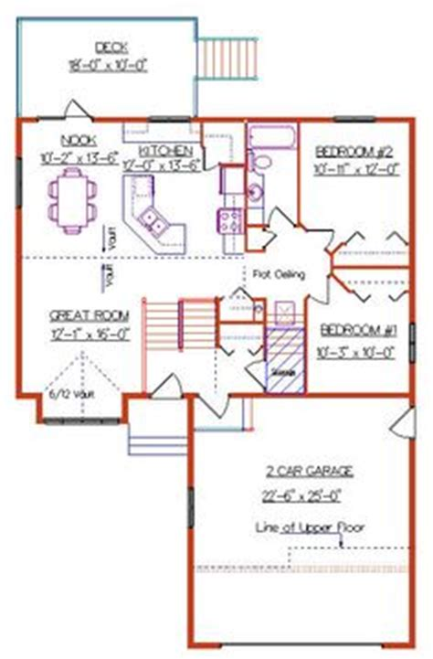 modified bi level floor plans modified bi level with 3 car garage 2004135 by e designs