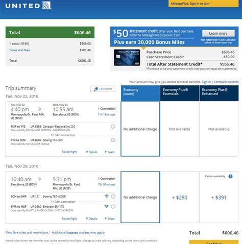 united airlines booking 608 638 spain from minneapolis incl thanksgiving r