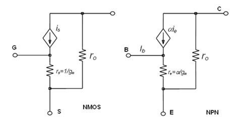 fet transistor small signal model hybrid pi model vs t model input resistance mosfet electrical engineering stack exchange