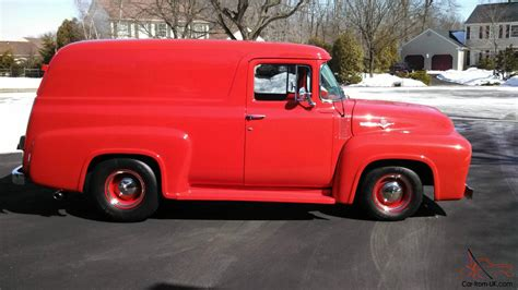 truck car ford 1956 ford f 100 panel truck delivery van rare fully