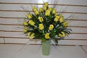 Silk Flower Arrangements For Cemetery Vases Silk Cemetery Flowers Ebay