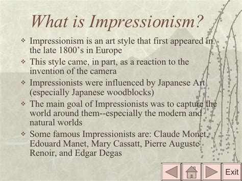 what is impressionism impressionism interactive powerpoint presentation