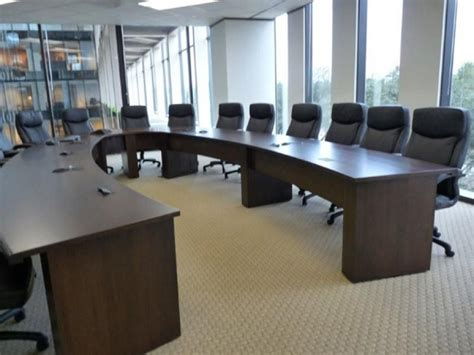 U Shaped Conference Table New Office Conference Tables Custom Horseshoe Or U Shaped Table At Furniture Finders