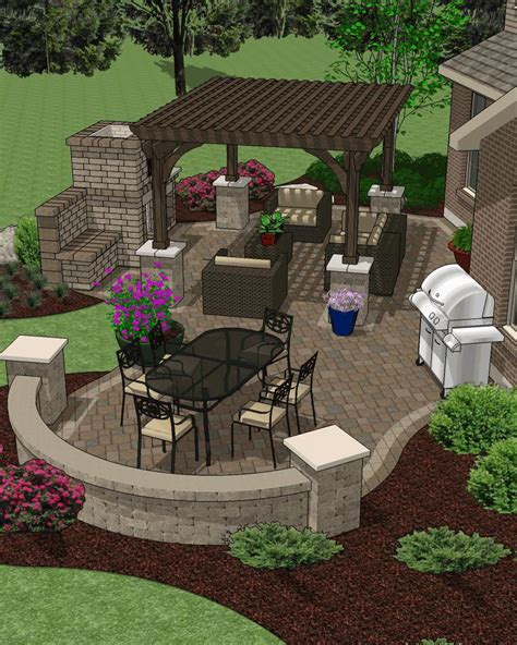 patio layout affordable patio designs for your backyard