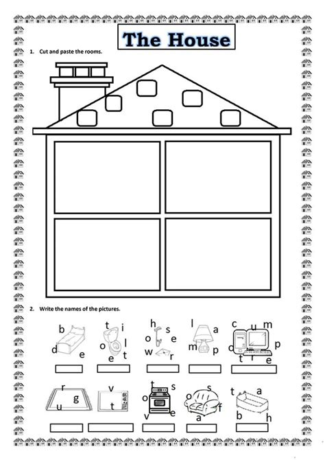 my house printable activities mom s kitchen worksheet free esl printable worksheets