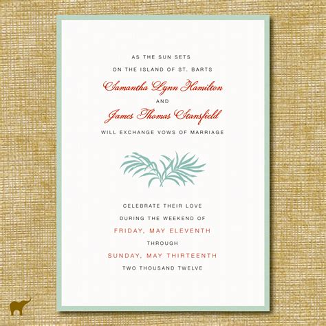 destination wedding invitation templates destination wedding invitation wording theruntime