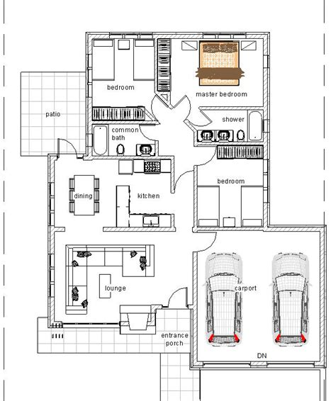 three bedroom bungalow house plan david chola