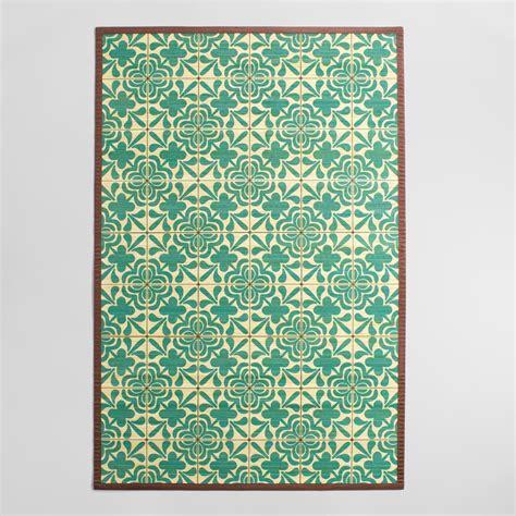 bamboo rugs world market 4 x6 blue and ivory tile bamboo area rug world market
