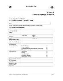 one page company profile template company profile template free