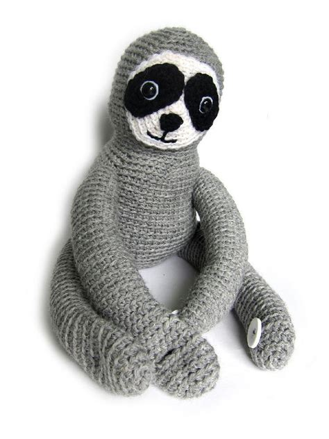 knitted sloth sura the sloth crochet pattern by stacey trock crochet
