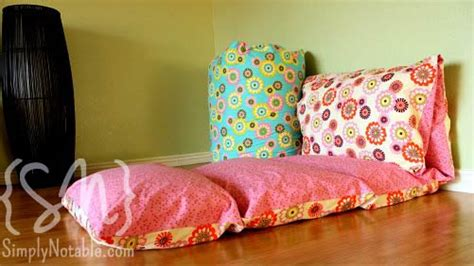 pillow bed for kids lounging around simply notable
