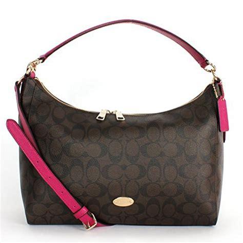 Coach Celeste coach signature east west celeste hobo handbag brown cranberry designer handbags purses