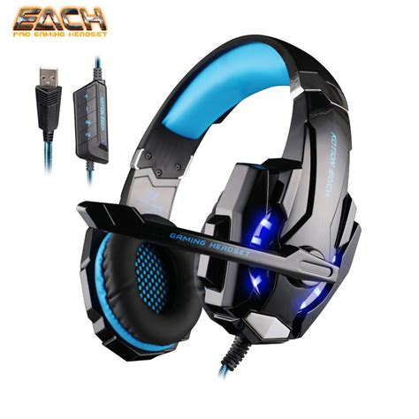 Headphone Gaming Kotion Each G1000 7 Led Color Original kotion each g9000 usb 7 1 surround sound led light gaming headphone ear headband noise