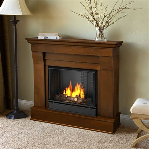 real chateau ventless gel fireplace espresso