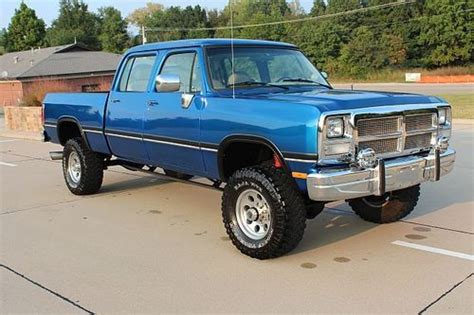 dodge w300 crew cab for sale sell used 1985 dodge w350 crew cab bed 4x4 1993 5 9