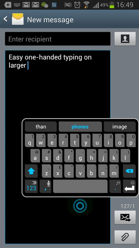 resize layout android keyboard undock resize or split your keyboard with swiftkey 4 3 beta