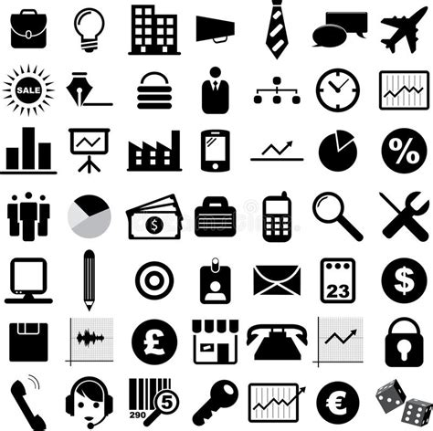 Business Vector Royalty Free Stock Images Image 1449729 Business Icons Stock Vector Illustration Of Diagram 23024819