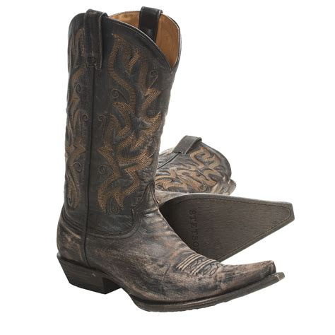 toe boots mens stetson fashion snip toe cowboy boots for 4508c
