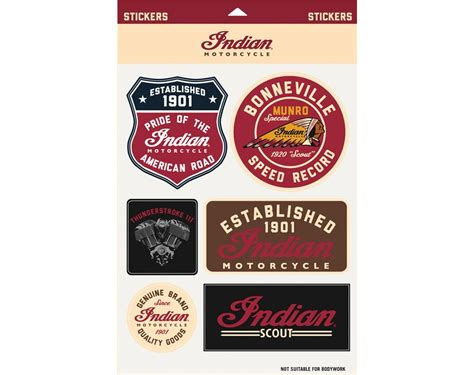 Sticker Indian Motorcycle indian motorcycle 174 graphic sticker set indian motorcycle